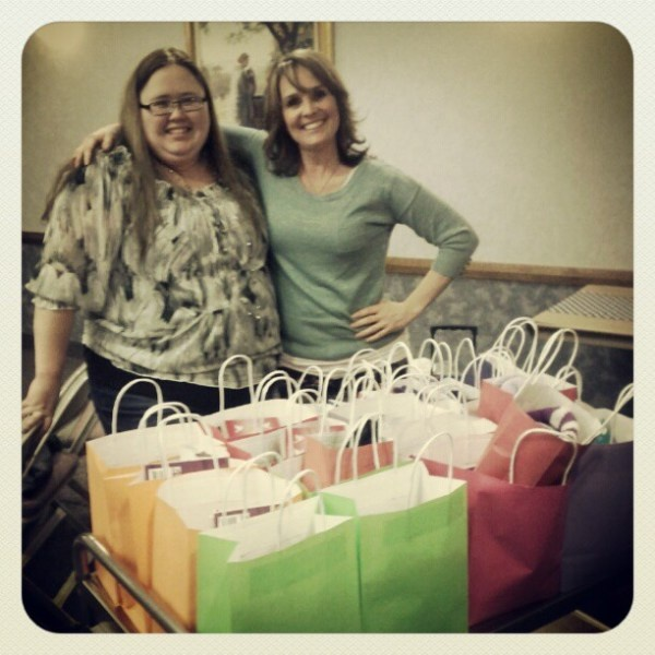 Cool service project. Birthday bags for homeless shelter.