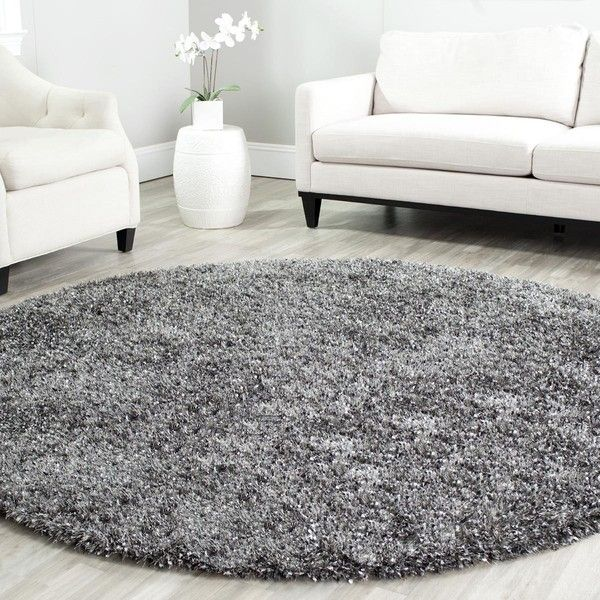 this round shag rug gives your living room an centerpiece made of plushy polyester this rug is resistant to stains and features shades