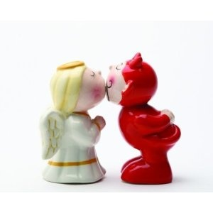 Devil Or Angel 15cm Stuck On You Magnetic Salt Pepper Shakers Ceramic  Amazon 101 Best Home Deco Shakers Images On Pinterest. Cheerful Cool ...
