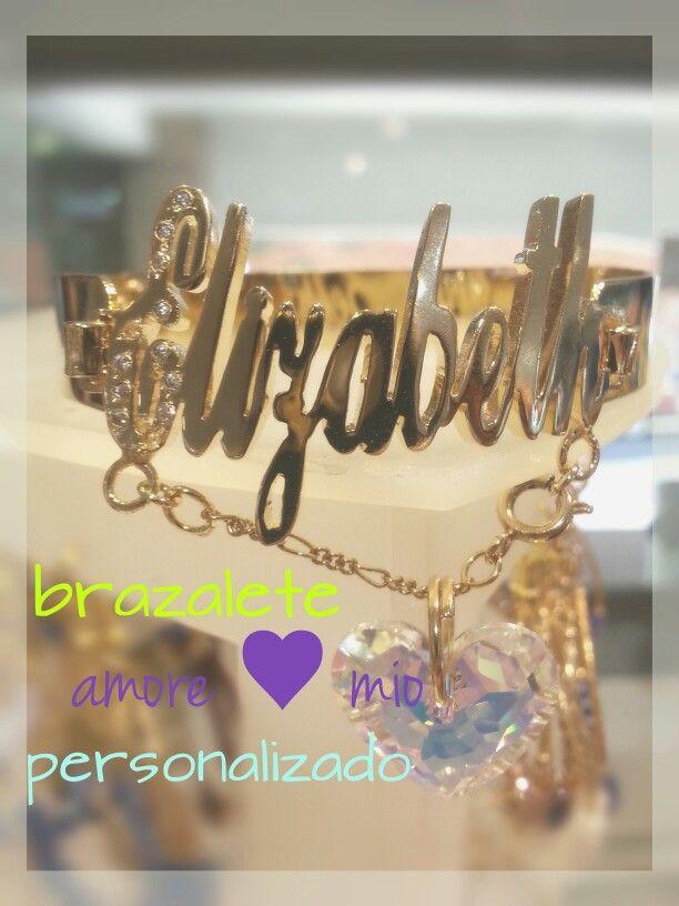 Brazalete personalizado Amore ♥ mio Precio con descuento $ 550 MXP Solo en Joyeria Rico.
