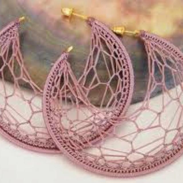 Crochet earrings!!! Cute ones too   Crochet Ideas   Pinterest