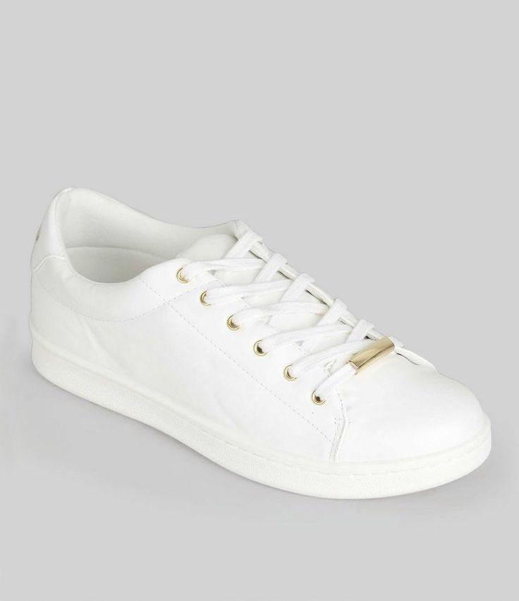 New Look(ニュールック)   New Look White Metal Trim Trainers - MILANDA(ミランダ)通販
