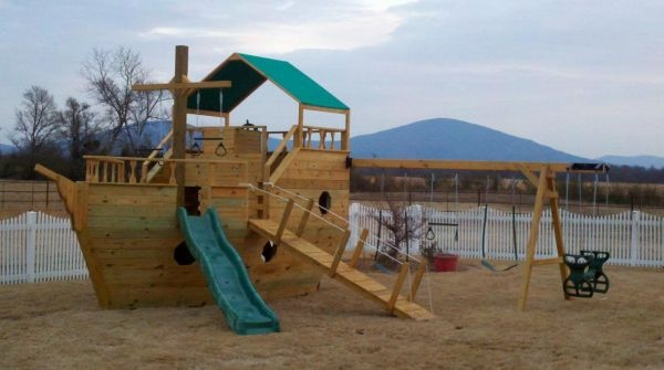 Pirate ship swing set | For the Home | Pinterest | The o ...
