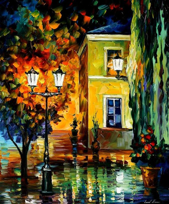 Southern Night — PALETTE KNIFE Landscape Oil Painting On Canvas by Leonid Afremov, $239.00