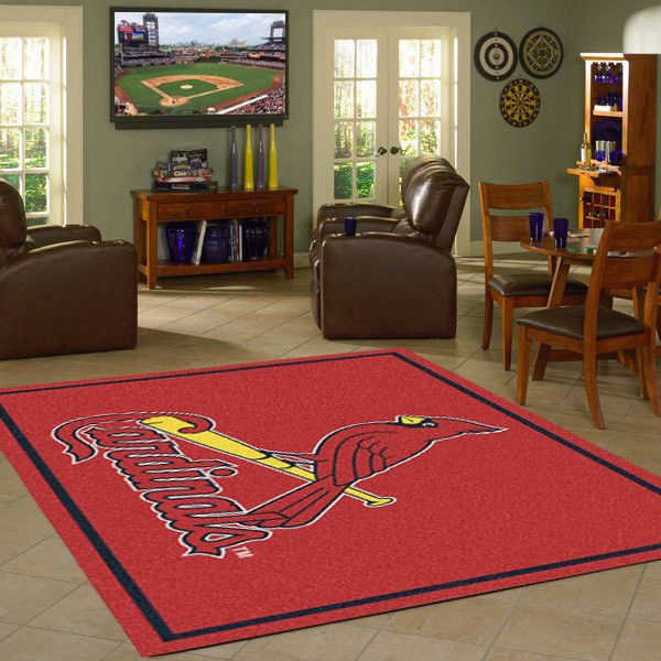 St. Louis Cardnals MLB Team Logo Spirit Rug