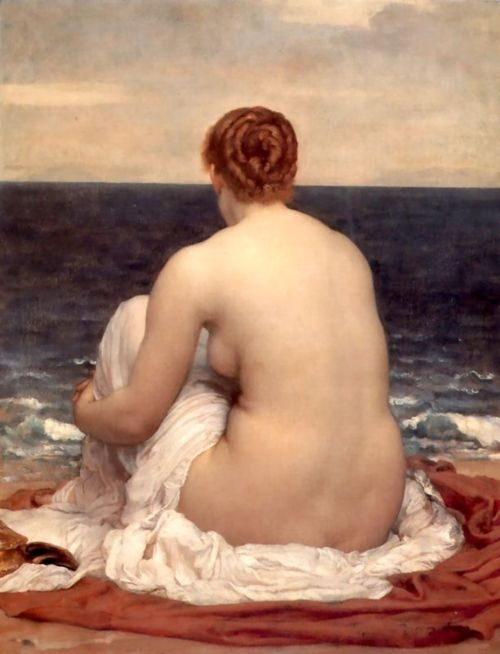 goddess: Lord Leighton, Real Women, Female Art, At The Beach, Canvas, Frederick Leighton, Lord Frederick, Frederic Leighton, Oil Painting