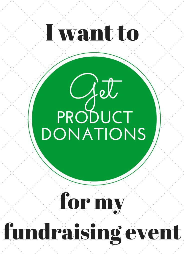 Product Donation Request Forms for Fundraising. Making it easy to get product donations for your event or charity.
