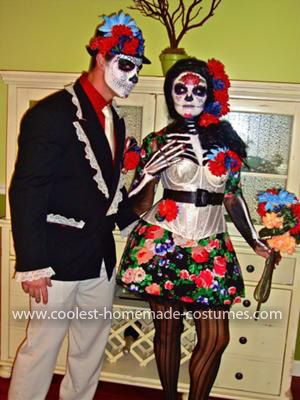 Homemade Day of the Dead Couple Costume