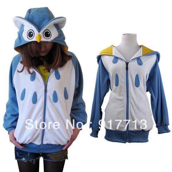 Großhandel! Versandkostenfrei! Mode schöne eule japan niedliche kostüm eule unisex Erwachsenen tier hoodie in von auf Aliexpress.com