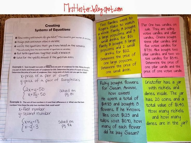 System Of Linear Equations Word Problems With Answers - Systems of