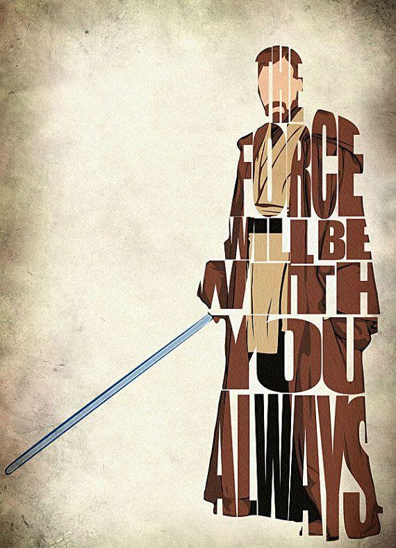 ObiWan Kenobi inspirado Print cartel de la película por GeekMyWalL