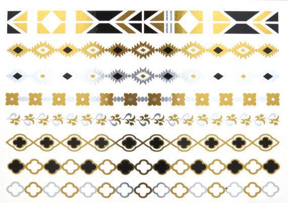 Metallic Tattoo GoldTattoo Jewelry Tattoo Silver by MetallicTat, $18.00