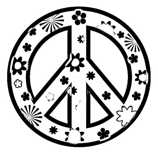 peace sign coloring pages for girls