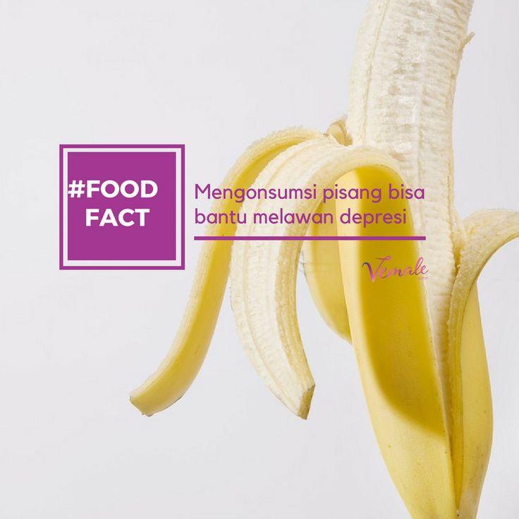 Pisang mengandung tryptophan tinggi yang diubah menjadi serotonin (hormon pemberi perasaan nyaman dan bahagia). #vemaledotcom #ruangvemale #sharingajasis #vemalefood #banana #foodfacts #depression #march #good2share