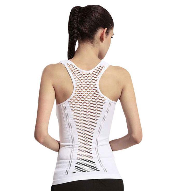 Cheap women yoga shirts, Buy Quality yoga shirt directly from China yoga  clothing Suppliers: Womens Yoga Shirt Yoga Tank Tops Hollow Back Top Gym  Jogging ...