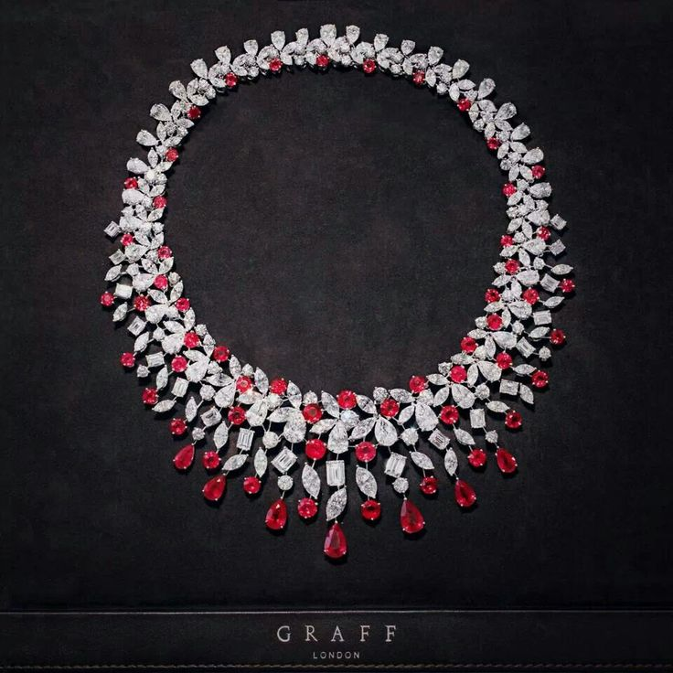 H & D Diamonds is your direct contact to diamond trade suppliers, a Bond Street jeweller and a team of designers.www.handddiamonds...Tel: 0845 600 5557 - Graff ruby and diamond necklace