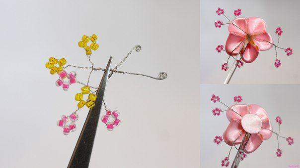 How To Make Japanese Ribbon Cherry Blossom Diy Tutorials Diy Ribbon Cherry Blossom Blossom