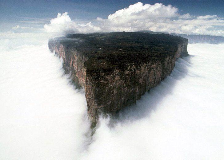 Le mont Roraima est une montagne d'Amérique du Sud partagée entre le Brésil, la Guyane et le Venezuela. Délimité par des falaises de 1000 m de haut, son plateau sommital présente un environnement totalement différent de la forêt tropicale humide et de la savane qui s'étendent à ses pieds. Uwe George