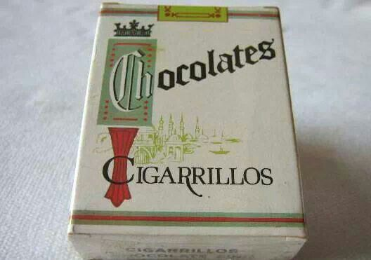 Cigarrillos de chocolate