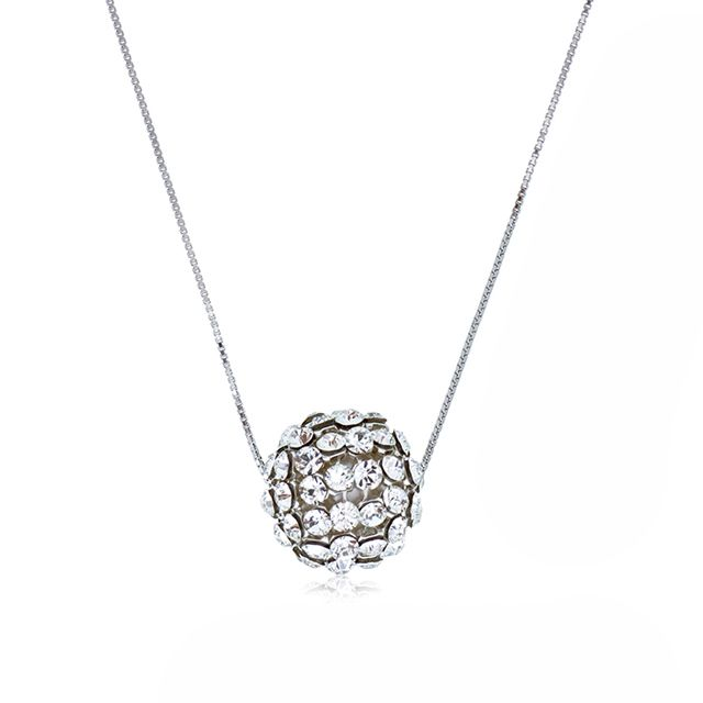Glam Big Silver Diva Ball Pendant Necklace - Online shopping for Glam Big Silver Diva Ball Pendant Necklace. Wholesale welcomed. 28Mall only sells original brands items. Get up to US$28 HongBao shopping credit for new members www.28Mall.com/s/P37