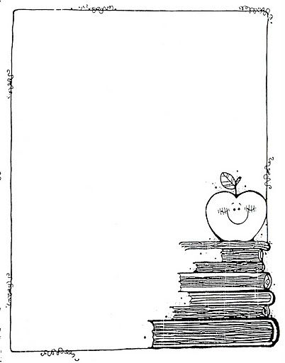Apple & school books stationary