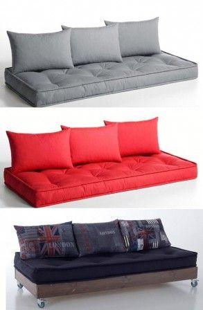 1000 id es sur le th me futons sur pinterest canap s lits matelas de futon et canap moderne. Black Bedroom Furniture Sets. Home Design Ideas
