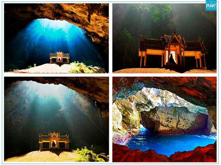 O Kuha Karuhas Pavilion foi construído para a visita do Rei Chulalongkorn, em 1890, e fica dentro da Phraya Nakhon cave. Próximo destino: Sam Roi Yot National Park, Pranburi, Tailândia.  #viagem #tailandia