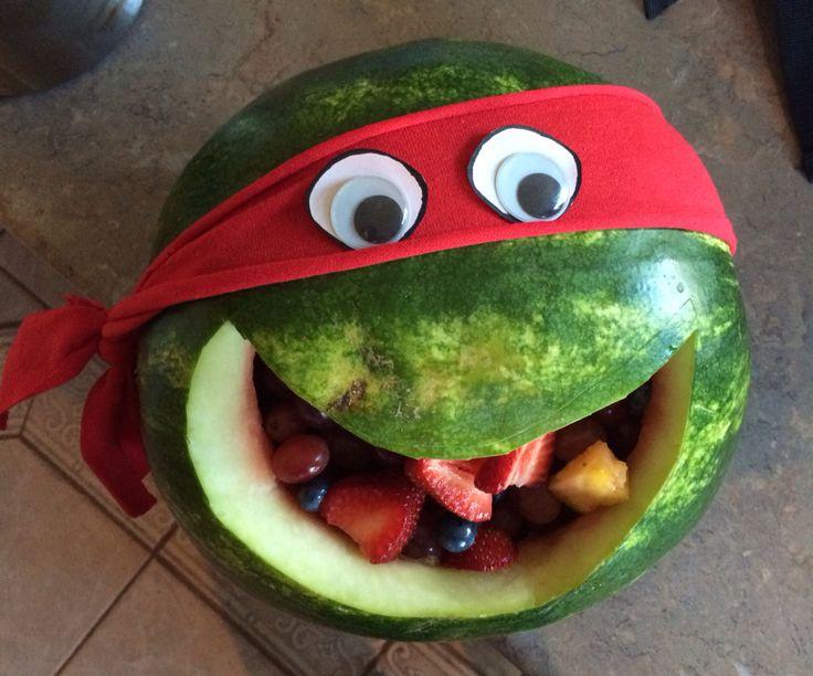 Ninja Turtle healthy school snack/birthday treat. Fun, easy, and the kids will love it!!