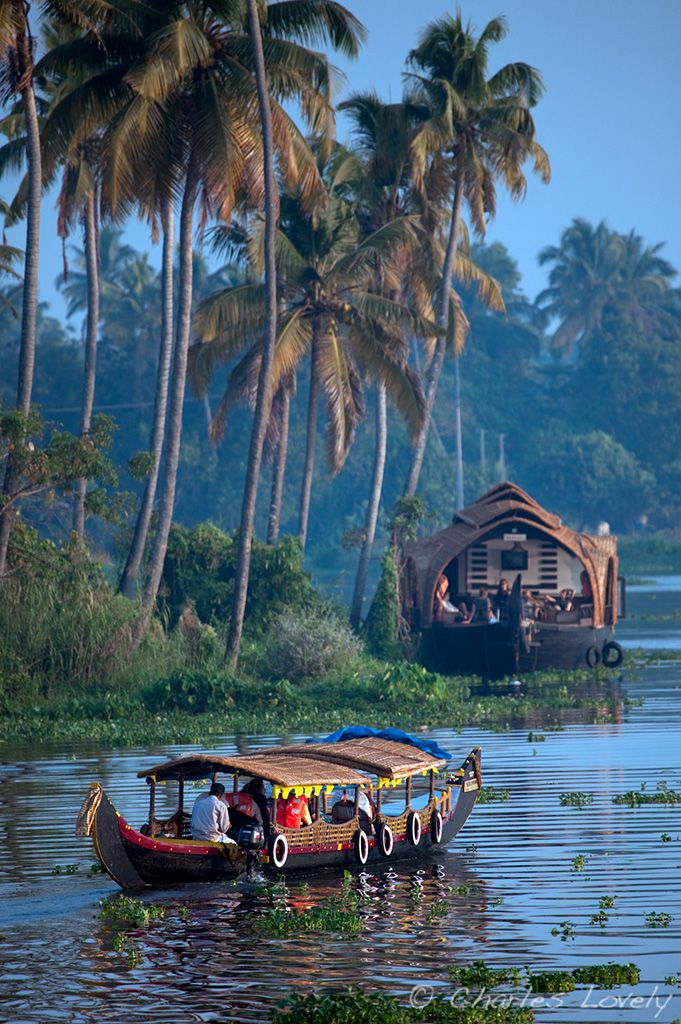 Kerela, South India... love this little riverboat!