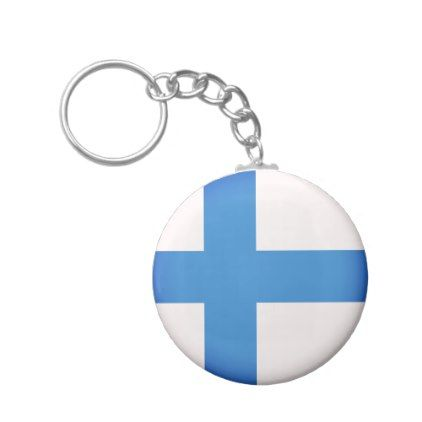 #Flag of Finland Keychain - #travel #trip #journey #tour #voyage #vacationtrip #vaction #traveling #travelling #gifts #giftideas #idea