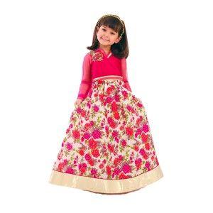 Shop Solid Rose Garden Choli Lehnga Online at best prices