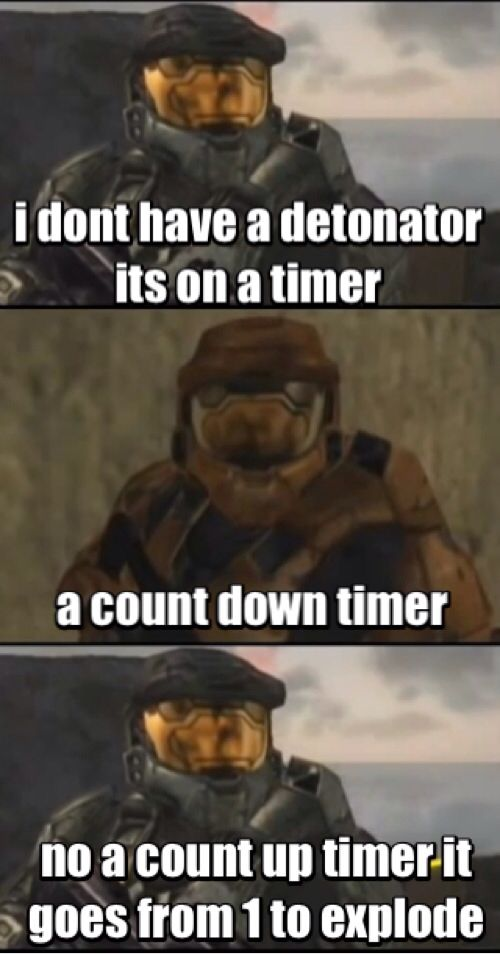 Haha I this is my fav quote from red vs blue so funny lol