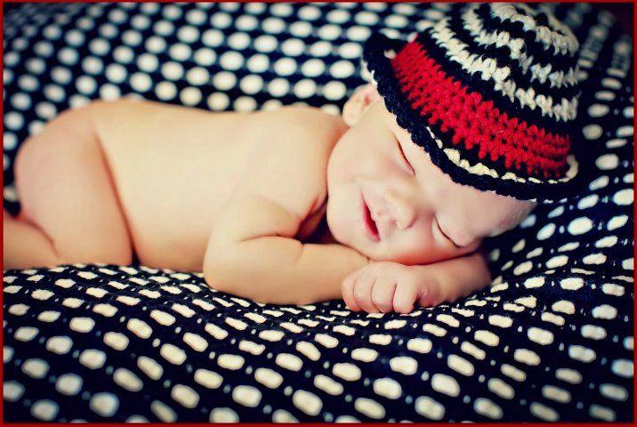 Newborn Photo Prop Baby Boy Houndstooth Fedora Hat by MitziKnitz, $25.00