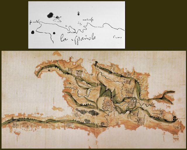 Territorio del nuevo mundo   1492 - Primer mapa - ¿Colón? 1519 - Segundo mapa - Anónimo