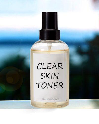 DIY clear skin toner