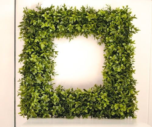DIY Boxwood Square Wreath