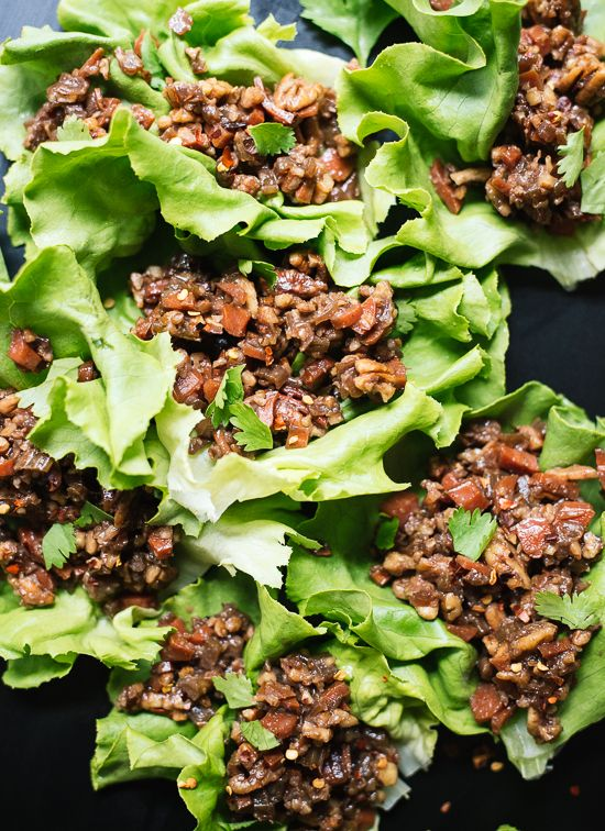 These Thai lettuce wraps are a perfect vegetarian and gluten-free appetizer! These is a great easy, healthy dinner recipe.