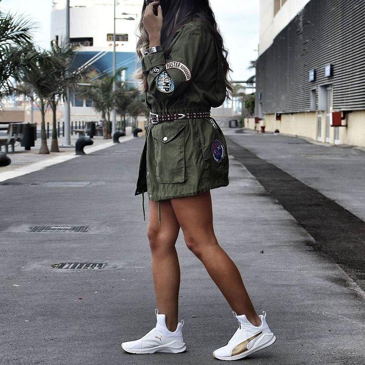 Uniform   #stylebynelli #styleoftheday #streetstyle #streetstyleluxe #love #parka #sneakers #puma #ootd #potd #lotd #girl #cute #summer