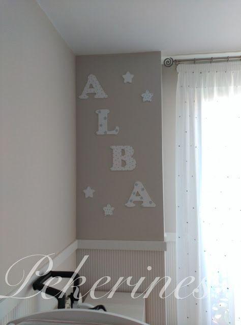 1000 images about para habitaciones infantiles on - Ideas para decorar letras de madera ...