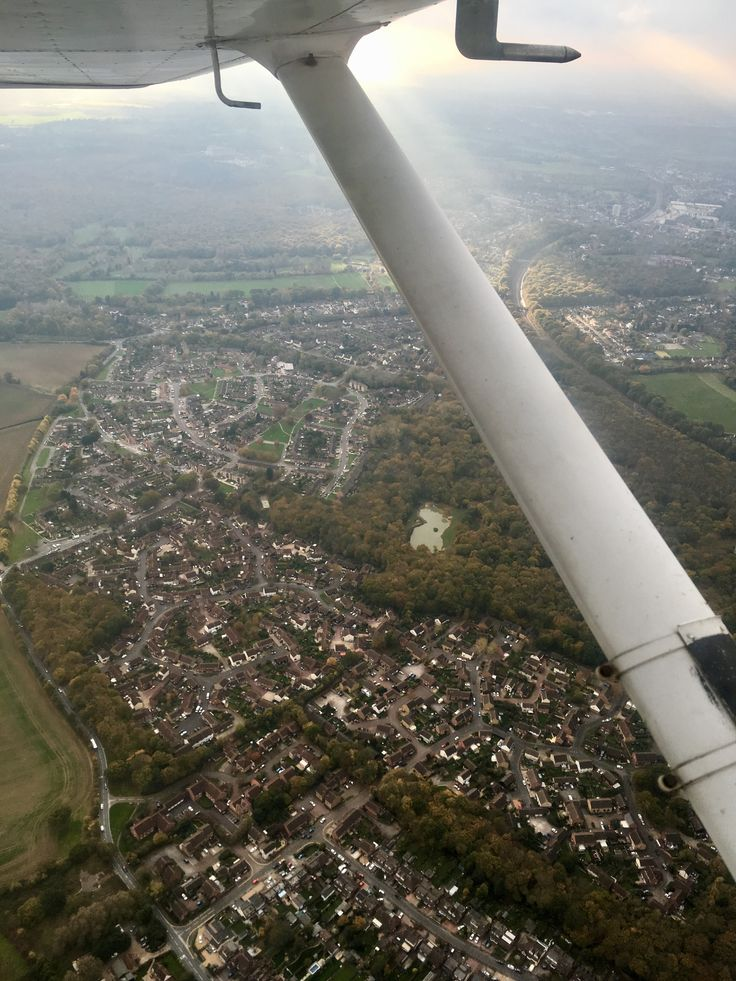 Brentwood (Essex, UK) from 1,500ft - Above Thriftwood, Ingrave to the Left, Brentwood Station to the Top Right.