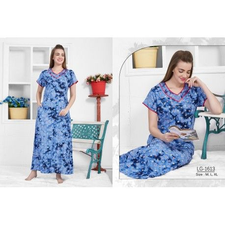 2084a1208d Rayon fabric Embroidered neckline V-Neck These nighties come in various  prints and colors
