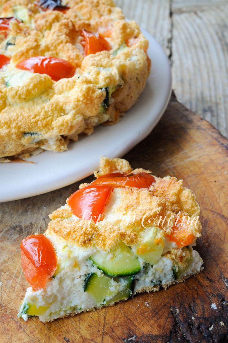 Torta leggera di verdure con soli albumi vickyart arte in cucina