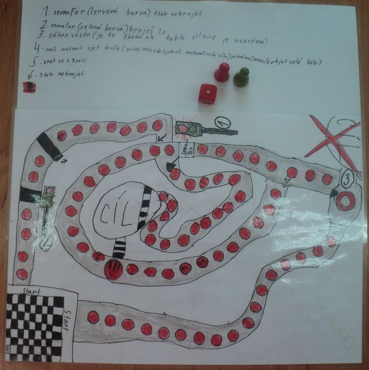 Stolní hra s dopravní tématikou   (práce chlapců 1. a 3. třída)