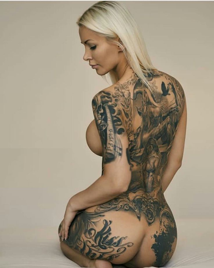 Can Naked women ass tattoos