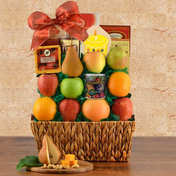 Birthday Greetings Fruit Gift Basket $75.99Item # 680