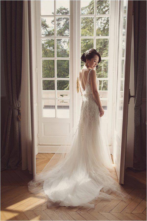 delicate pretty lace wedding dress http://goo.gl/BZYcw2   Image by Rebecca Douglas Photography