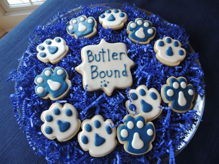 Butler University Bound graduation party cookies