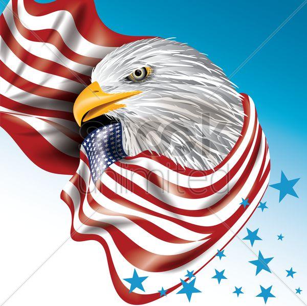 usa eagle design vector graphic