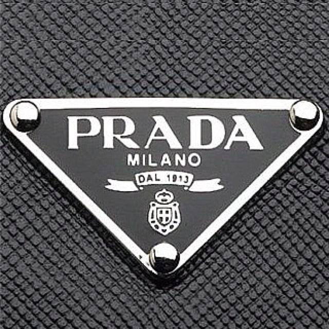 Prada logo Would love em as earring studs!