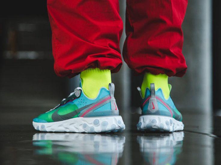 Nike React Element 87 Royal Tint Grey Solar Red en 2021 | Nike ...